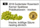 2018 Guldentaler Rosenteich - Kerner Spätlese - trocken